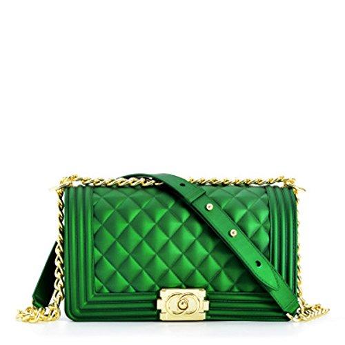 xiaohu al Verde Hombro Verde para Oscuro 25cm×8cm×14cm Mujer Oscuro Bolso rrn6pZa
