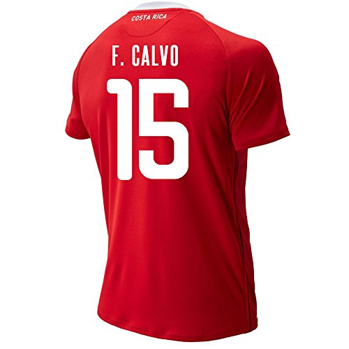 2006 Fifa World Cup Italy - New Balance F. CALVO #15 Costa Rica Home Soccer Men's Jersey FIFA World Cup Russia 2018 (2XL)