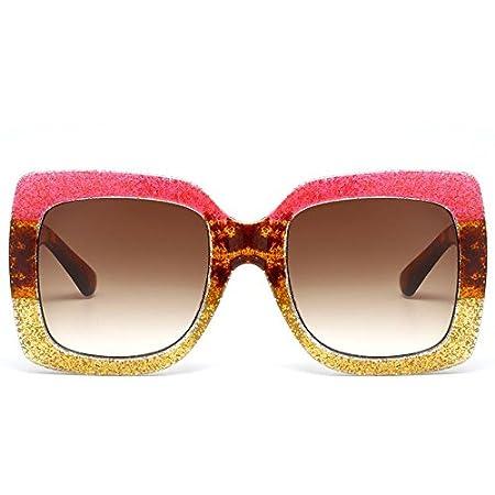Z&YQ Occhiali da sole fashion color Square box Women Casual Driving Eyewear , C