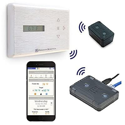 Paragon Robotics Model COM002 Wireless Smart Efficiency Thermostat System w/ Remote Temperature and Humidity Sensor