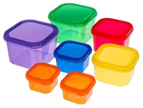 Portion Control Containers Set {7 Piece}: Color Meal Prep Fo