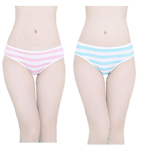 Hot-Cute-Japanese-Style-Bluepink-Stripe-Panties-Bikini-Cosplay-Cotton-Underwear