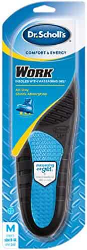 Dr. Scholl's WORK Massaging Gel Advanced Insoles (Men's 8-14, Women's 6-10) // All-Day Shock Absorption and Cushioning for Hard Surfaces (Packaging May Vary)