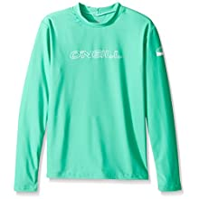 O'Neill Wetsuits UV Sun Protection Youth Basic Skins Long Sleeve Rash Tee Sun Shirt Rash Guard, Seaglass, 10