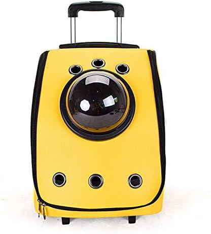 遠出ショルダー猫と犬のバックパック トロリー便利スペースバッグ 折りたたみ通気性キャットバッグ ペットバッグ 35×35×50cm