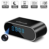 RZATU - Hidden Camera Alarm Clock - Spy Camera Wireless - Nanny Camera WiFi - Mini Home Security Monitoring Cam with Cell Phone iPhone Android App - 1080P HD - Night Vision Motion Detection