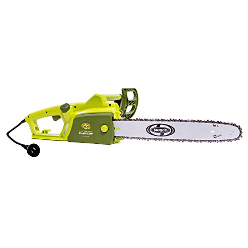 Sun Joe SWJ700E 18-Inch 14 Amp Electric Saw with Kickback Brake, Includes Oregon Bar and Chain by Sun Joe
