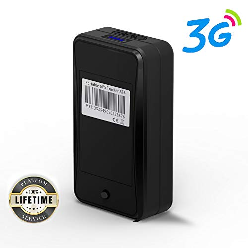 Portable 3G GPS Tracker, Jimi AT6 Mini GPS Tracker w/ 10000mAh Battery  &Powerful Magnetic Real-time GPS Tracking Device for Monitoring & Locator