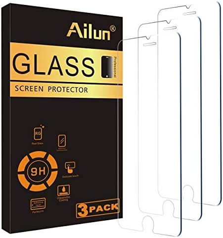 Ailun 0.25mm Glass Screen Protector Compatible for iPhone SE 2020 2d Generation, iPhone 8,7,6s,6, 4.7-Inch 3 Pack Clear