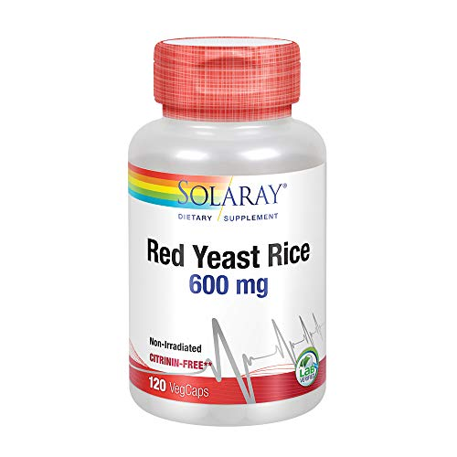 Red Yeast Rice 600mg Solaray 120 VCaps ()
