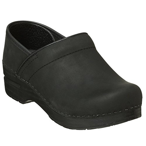 Dansko Professional Women Mules & Clogs Shoes, Black�Oiled, Size - 40