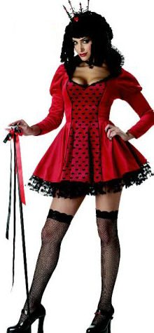 Red Queen Of Hearts Costume Wig (Dark Queen of Hearts Costume for Women (Wig, cane and stockings not included))