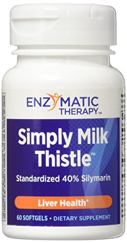 Enzymatic Therapy Simply Milk ThistleTM Standardized 40% Silymarin, 60 Softgels