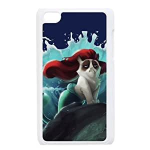 Cute Grumpy Cat Cartoon Hard PC Cover Case for iPod Touch 4, 4G (4th Generation)