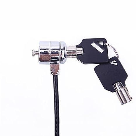 Antirrobo para ordenador portátil ordenador portátil Seguridad cable lock w/2 llaves: Amazon.es: Electrónica