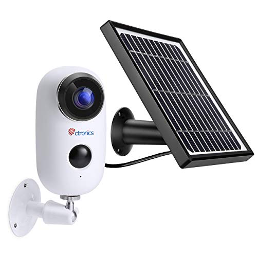Wireless Outdoor Security Camera WiFi Solar Powered, 1080P Home Security Camera System Surveillance Camera with Night…