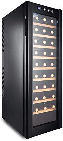 Lnspirationalギフトインテリアアクセサリーミニ冷蔵庫ブラック30ボトルビールワインラックワインドリンク冷蔵庫低エネルギーA +ステンレス鋼LEDディスプレイデジタルスマート小型家電ホームキッチンブラック