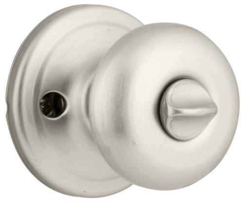 - 4 Pack Kwikset 730J-15 Juno Bed / Bath Privacy Knob Lockset - Satin Nickel Finish