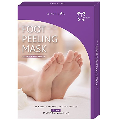 2-Pair Foot Peel Mask, Antifungal Foot Mask for Baby Soft Feet, XL Size Exfoliating Foot Peeling Mask & Dead Skin Remover, Complimentary Pair of Socks for Complete ()