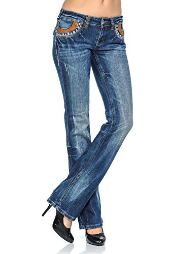 Low Rise Bootcut Jeans - 8