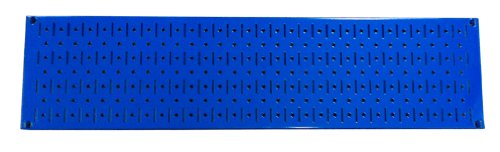 Wall Control Narrow Pegboard Rack 8in x 32in Blue Metal Pegboard Runner Tool Board