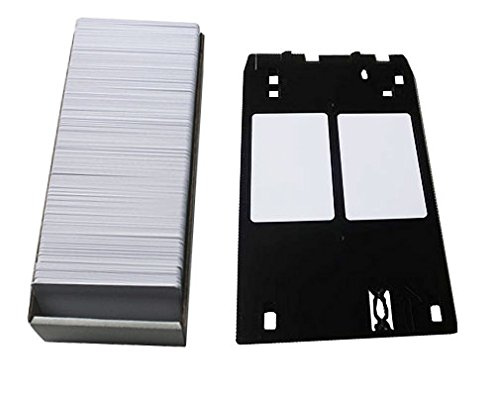 Reediy Inkjet Blank 100 PVC ID/Badge Cards and Canon J Tray Glossy 30 Mil Two side prinitng Waterproof Cards Credit Card Size