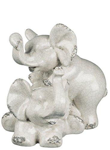 Sullivans Ceramic Elephant Figurine, 6.5 x 6 Inches, White (CM2711)