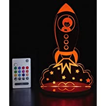 Tulio Dream Lights Blast Off Rocket Ship Multi-Use, Multi-Color Night Light