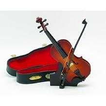 With decoration gorgeous case! Miniature violin 15cm