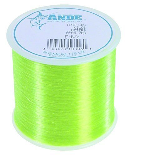 Ande A18-10GE Premium Monofilament, 1/8-Pound Spool, 10-Pound Test, Bright Green Finish