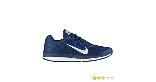 promo code 6af93 2b8c6 Amazon.com   Nike Men s Air Zoom Winflo 5 Running Shoe (7 M US, Midnight  Navy Pure Platinum)   Athletic