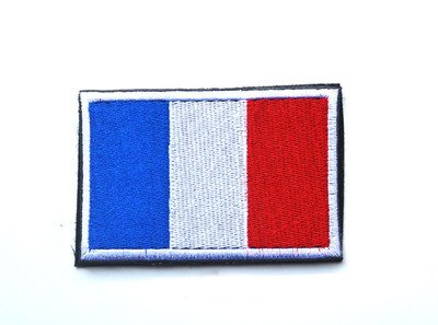 france fr flag military embroidered