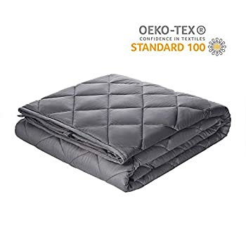 Image of Viki Adult Weighted Blanket 15 lbs, 48''x72'', Dark Grey for Queen Size, Cooling Soft Heavy Blanket with Glass Beads Viki B07PVF9DS4 Weighted Blankets