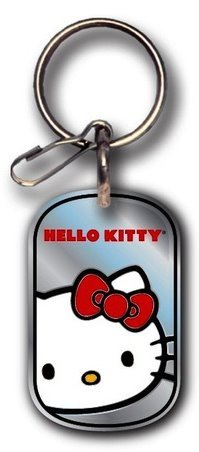 PlastiColor 4272R01 Hello Kitty Dog Tag Enamel Key Chain