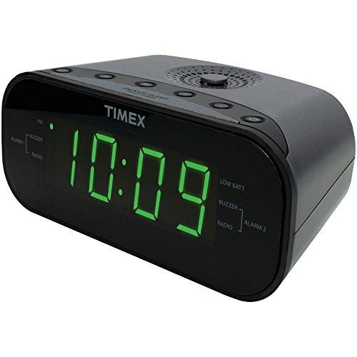 Timex Audio AM/FM Dual Alarm Clock Radio with Digital Tuning (Gunmetal Gray)