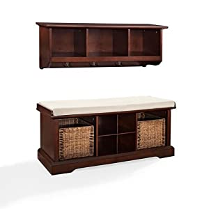 crosley brennan 2 piece entryway bench and. Black Bedroom Furniture Sets. Home Design Ideas