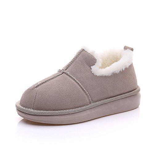 breve di bassa Boots stivali inverno caldo spessore imbottiti Snow aiuto cotone Beige di q8d5vwq64