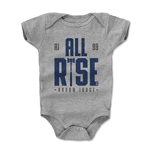 500 LEVEL's Aaron Judge Baby Onesie 6-12M Heather Gray - New York Baseball Fan Gear - Aaron Judge Rise B Baby Infant Jersey Onesie