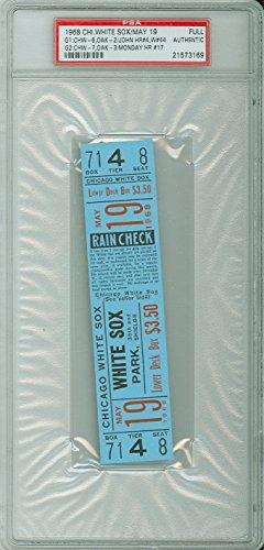 1968 Chicago White Sox FULL TICKET vs Oakland Athletics Tommy John Win #44 Rick Monday HR #17 - May 19, 1968 [Grades solid Near-Mint] by Mickeys Cards