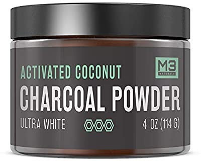 Premium All Natural Charcoal Teeth Whitening - Coconut Activated Charcoal and Bentonite Clay Formula - Use Like A Whitening Toothpaste - Extra Strength Bright Smile