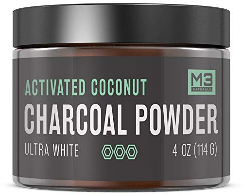 M3 Naturals Teeth Whitening Charcoal Powder Natural Toothpaste 4OZ (114G)