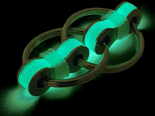 Glow In The Dark Flippy Chain Stress Reducer Fidget Toy. Superior Design, Improved Feel and Extra Quiet. For Focus, ADD, ADHD, Anxiety, And Autism. Great for School or the Workplace.