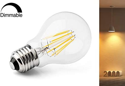 E27 8 W Gastro LED Bombilla Amber regulable Ultra cálido