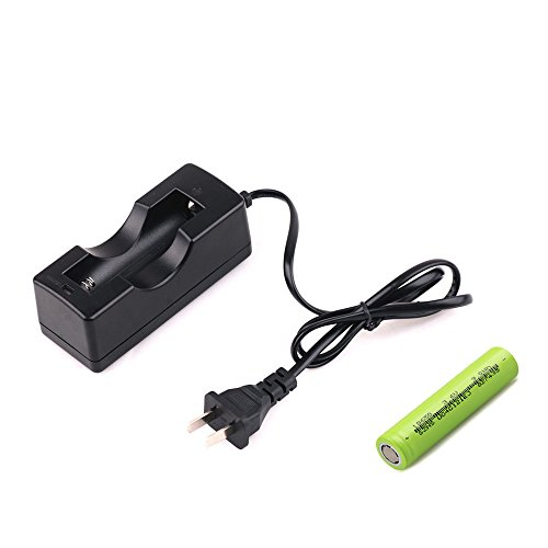 CISNO 3.7V 2600mAh 18650 Li-ion Rechargeable Battery and Charger for CISNO Tactical Flashlight