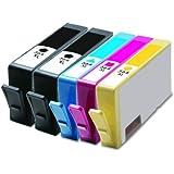 HouseOfToners 5-PK HP 564 XL 564XL Combo Pack (2-Black, 1-Cyan, 1-Magenta, 1-Yellow)