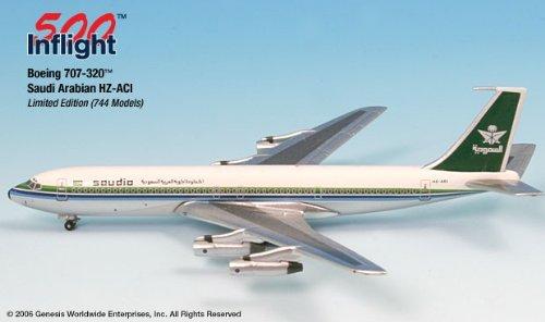 Saudi 1978 HZ-ACI 707-320 Airplane Miniature Model Metal Die-Cast 1:500 Part# A015-IF5707003 ()