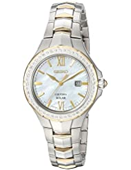Seiko Womens COUTURA Quartz Stainless Steel Casual Watch, Color:Two Tone (Model: SUT240)