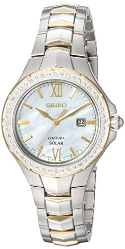 Seiko Women's COUTURA Japanese-Quartz Watch with Two-Tone-Stainless-Steel Strap, 7 (Model: SUT240)