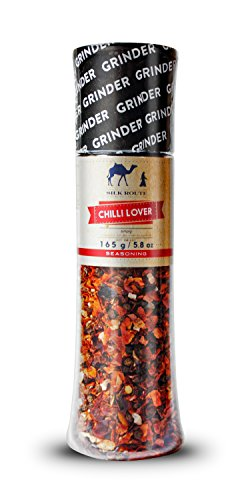 Chili Spice Seasoning Giant Grinder From Silk Route Spice Company Easy To Use Giant Grinder, 165g/5.8 oz