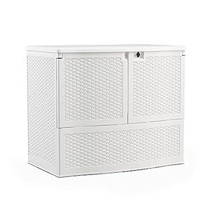 High Quality Suncast VDB19500WSD Backyard Oasis Storage And Entertaining Station, White